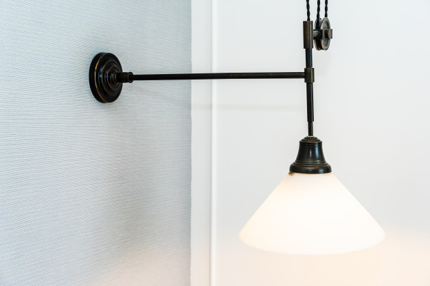 det rette lys fra en væglampe
