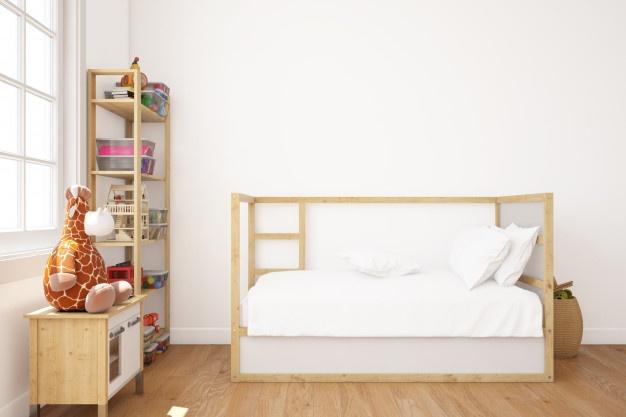 hvid seng til børn